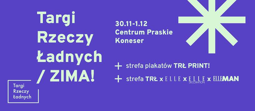 plakat Targi Rzeczy Ładnych / ZIMA 2019