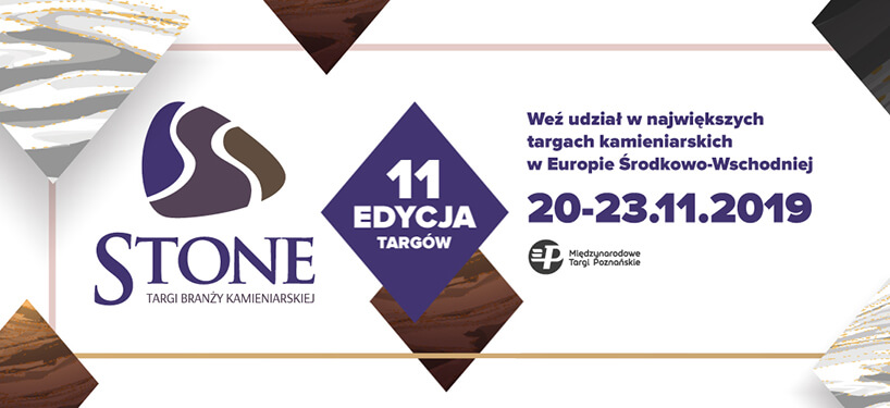 zaproszenie na targi branży kamieniarskiej Stone 2019