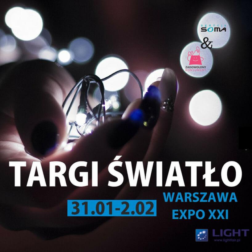 zaproszenie na Targi Światło 2018