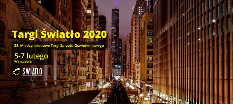 zaproszenie na targi Światło 2020