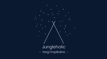granatowo-białe logo Jungleholic 2019