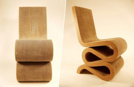 krzesło z tektury falistej