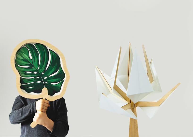 wyjątkowa lampa stojąca Theska Concept Store wkształcie drzewa