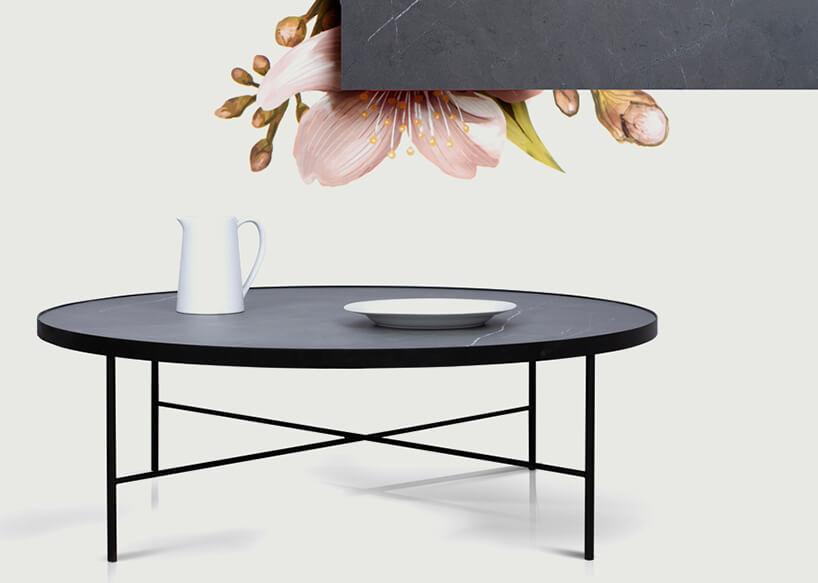duży okrągły czarny stół od Theska Concept Store