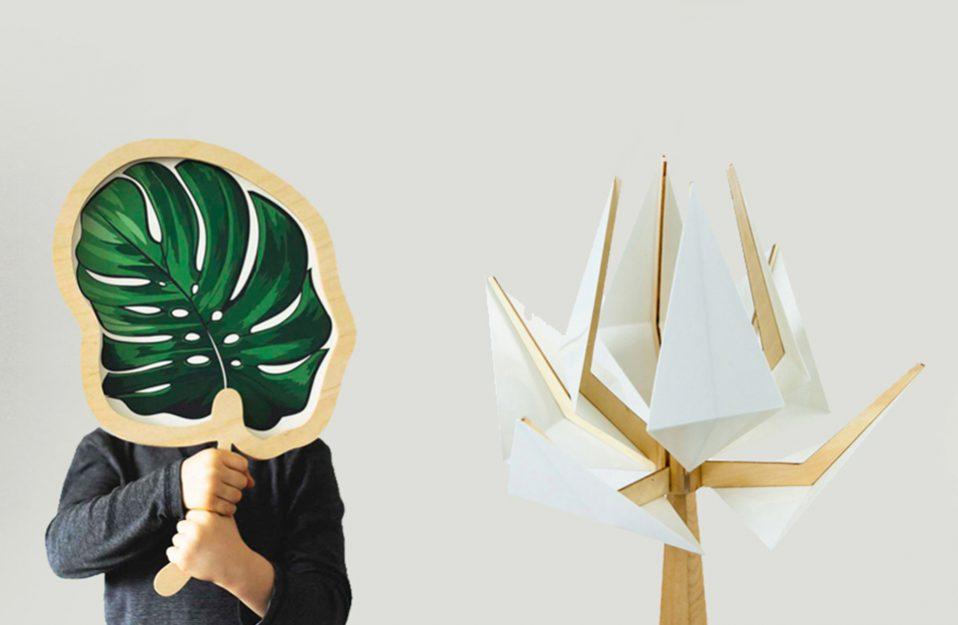 wyjątkowa lampa stojąca Theska Concept Store w kształcie drzewa