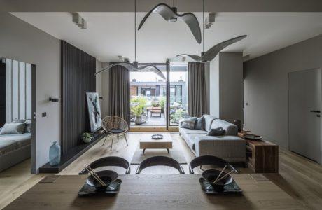 tilla architects projekt wnętrza apartamentu w warszawie