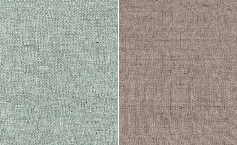 zestawienie dwóch tkaniny Spa iBlossom zkolekcji Twinkle od Cosmonova