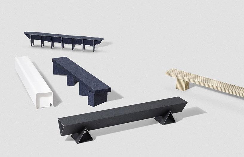różne ławki do siedzenia
