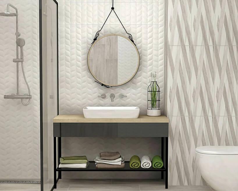 umywalka imuszla klozetowa zporcelany wskromnej eleganckiej łazience