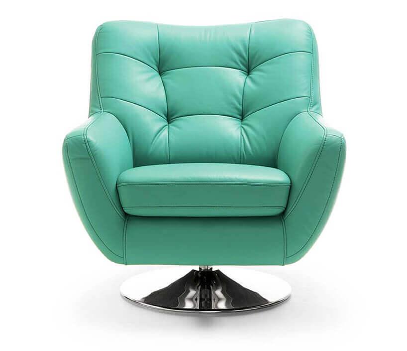 zielony fotel na białym tle