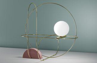 okrągła kula z złotym oringiem