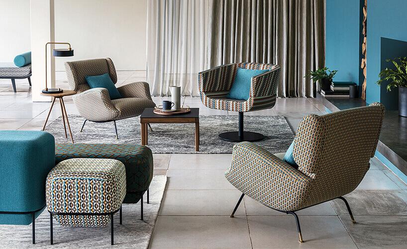 fotele ipufy we wzorze wkropki