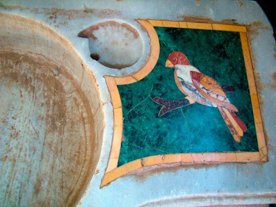 ptak na umywalce