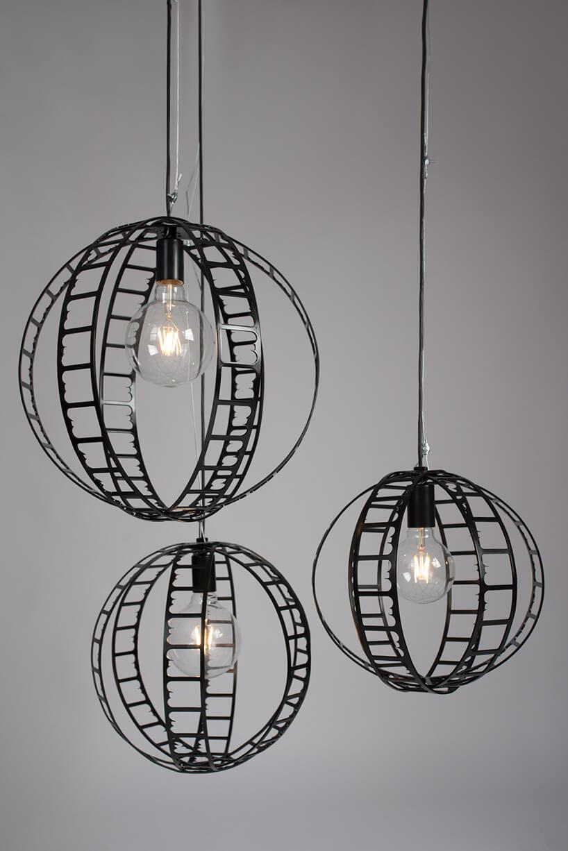 lampy wiszące wmetalowych kloszach