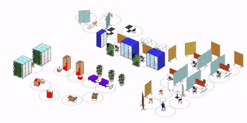 grafika projekt biura po pandemii od VANK
