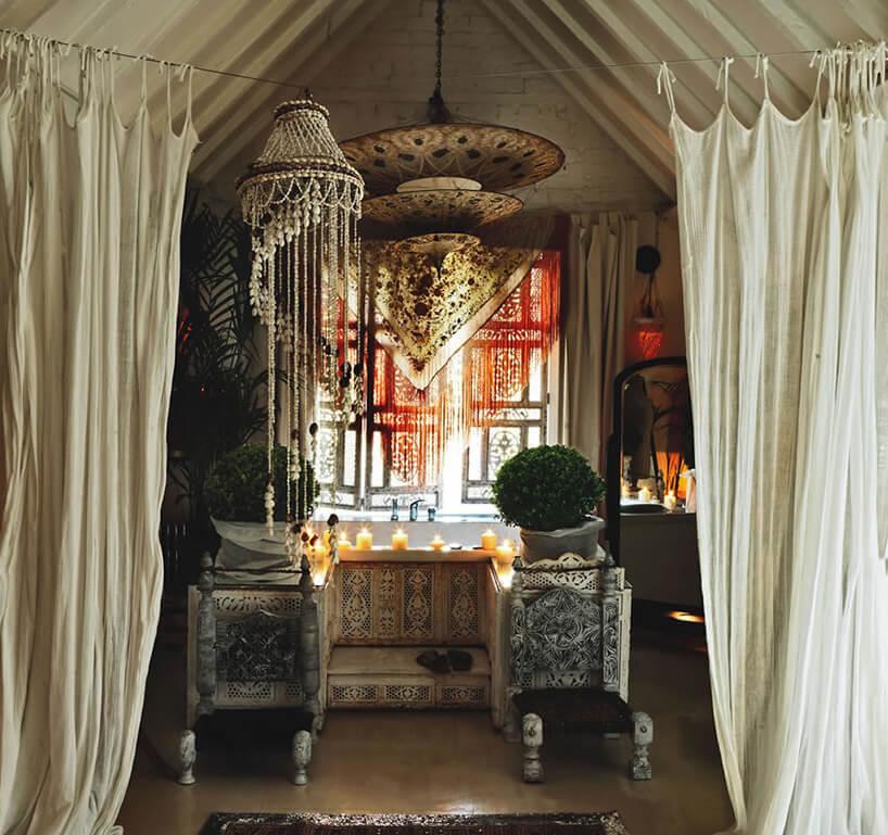 orientalna łazienka glamour