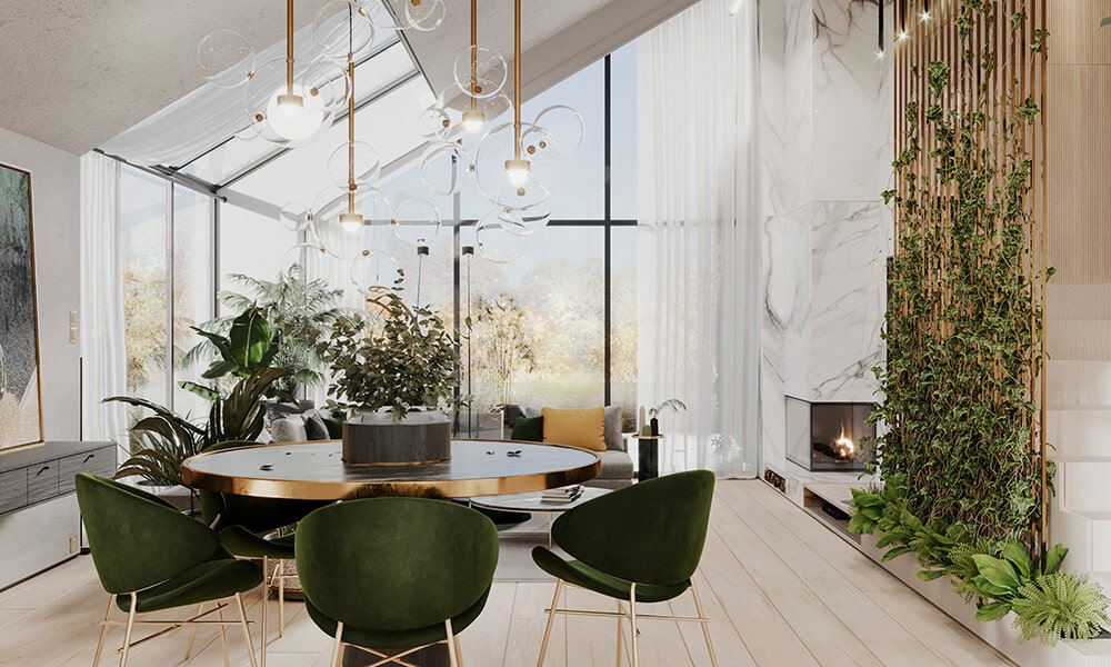 W barwach natury, dom nad jeziorem projektu modeko.studio