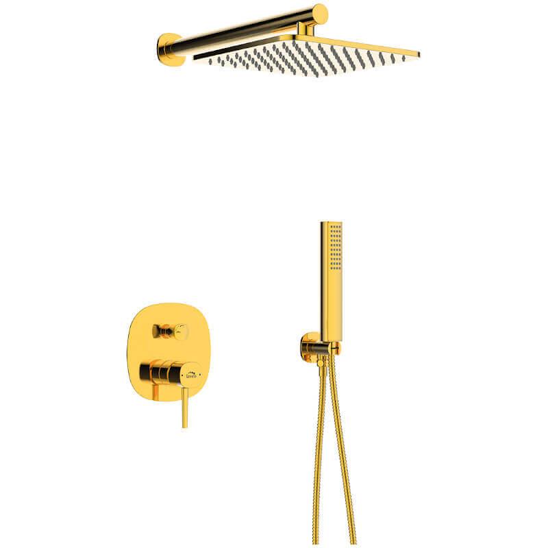 W najlepszym stylu – złote baterie łazienkowe iinne akcesoria od Laveo