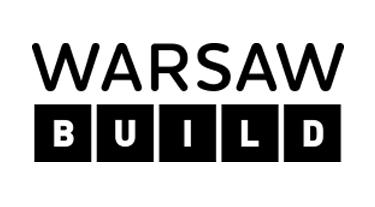 logotyp Warsaw Build 2019 czarno-biały