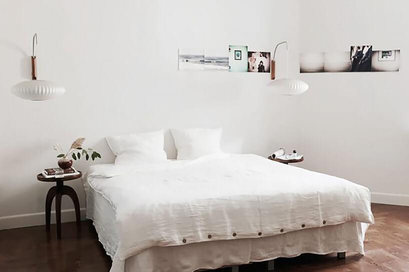 lniana pościel ŁYKO wbiałej sypialni