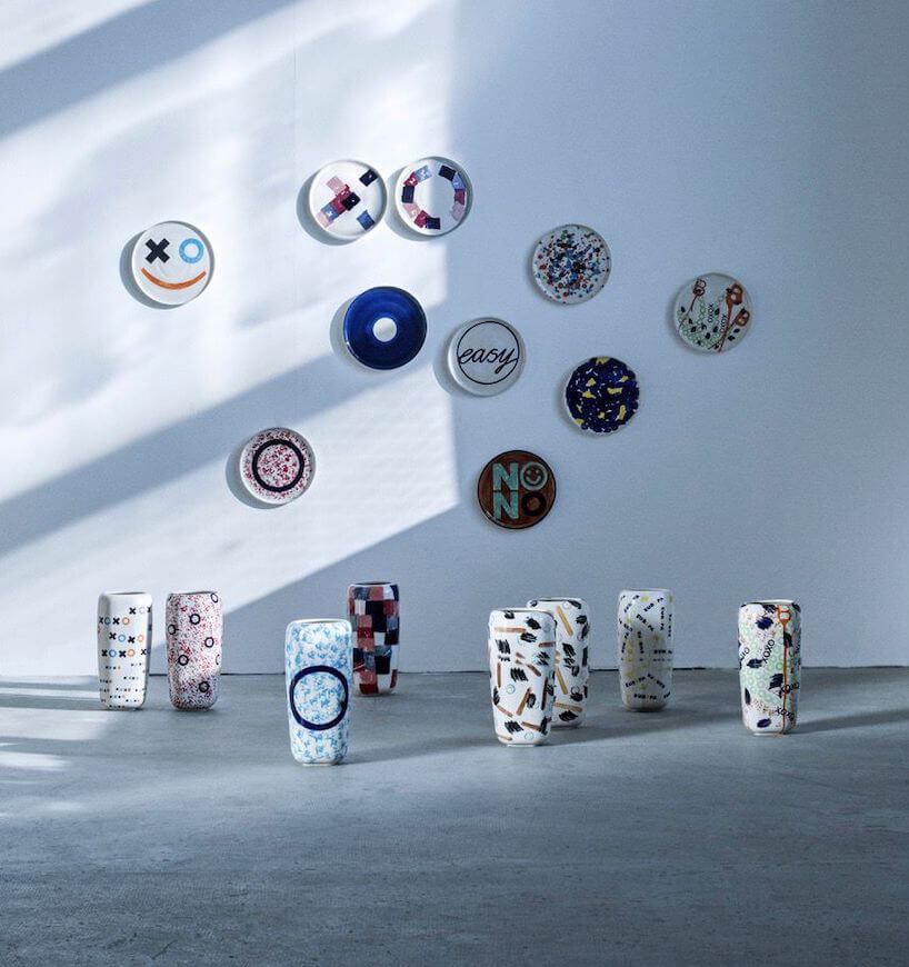 ceramiczne talerze iwazony zkolekcji POP App od Natalia Suwalski Design