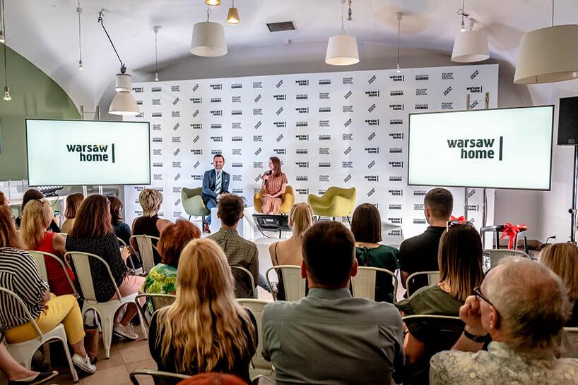 Kasia Ptak iMichał Mazur na scenie podczas konferencji warsaw home 2019