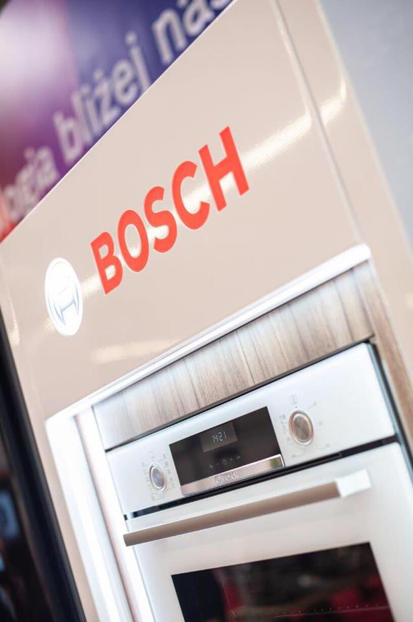 biały piekarnik Bosch na stoisku podczas Warsaw Home 2019