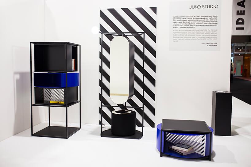 wyjątkowe czarne meble na stoisku Juko Studio podczas Warsaw Home 2019