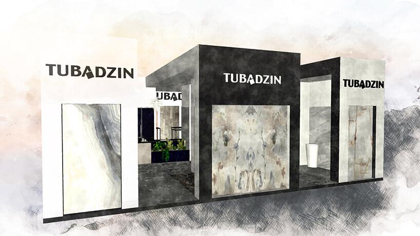 wizualizacja wczerni ibieli stosika Tubądzin na Warsaw Home 2019