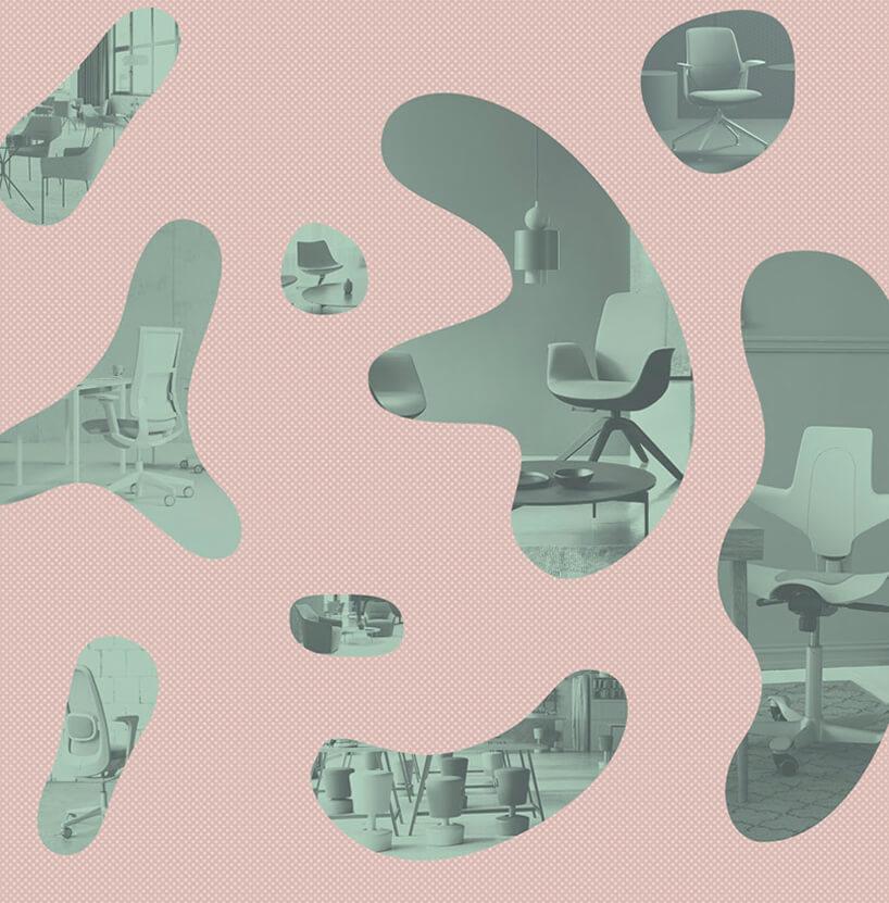 różowa grafika promocyjna zproduktami Profim iFlokk wystawianymi na Warsaw Home 2019