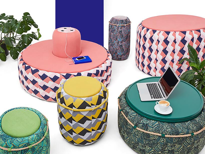 nowoczesne kolorowe siedziska istoliki Hilo projektu Szymona Hanczara dla Libra Sofa,