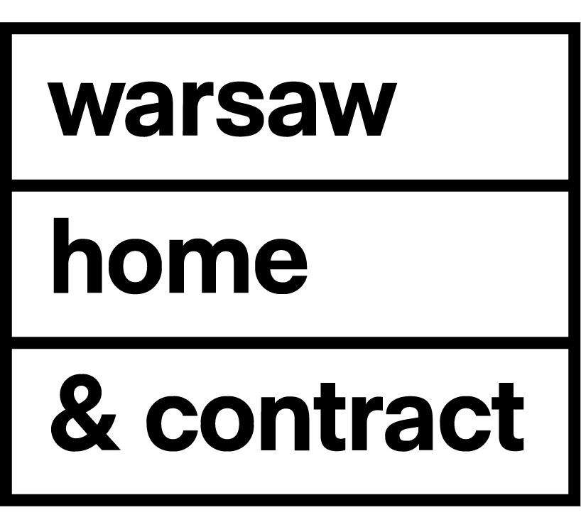 nowy czarno biały logotyp warsaw home & contract 2020
