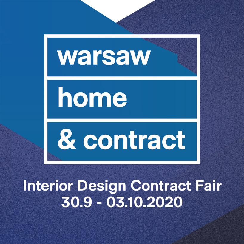 mały niebieski plakat warsaw home & contract 2020