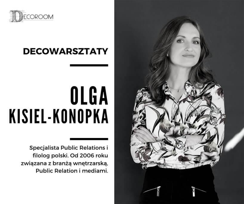 zdjęcie Olgi Kisiel-Konopki uczestniczki DECOwarsztatów