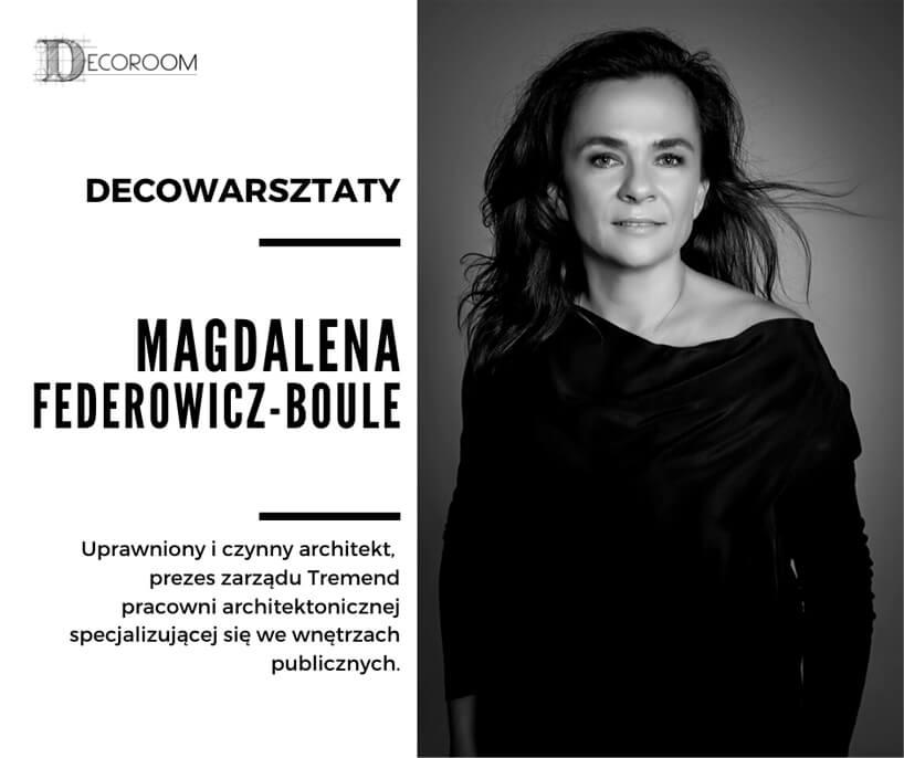 zdjęcie Magdaleny Federowicz-Boule uczestniczki DECOwarsztatów