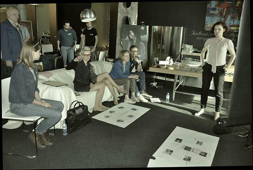 ludzie podczas spotkania wŁódzkiej Spółdzielni Designu