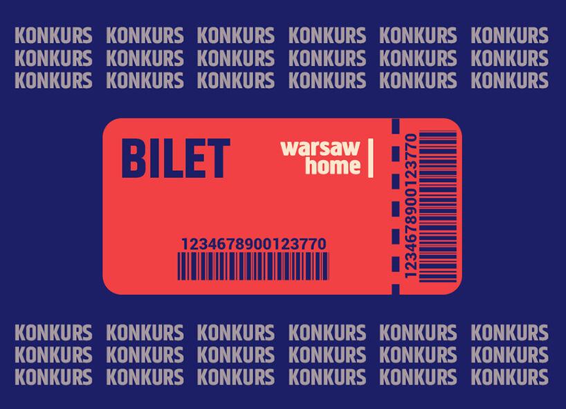 plakat konkursu zwejściówkami na Warsaw Home 2019 od MAGAZIF