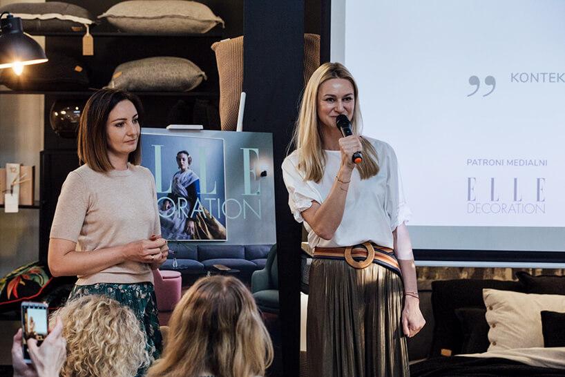 dwie kobiety podczas prezentacji na Wieczorze Architektów