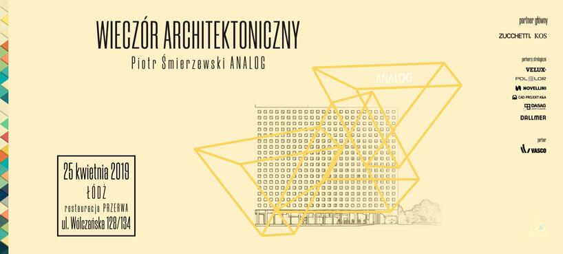 zaproszenie na Wieczór Architektoniczny wŁodzi