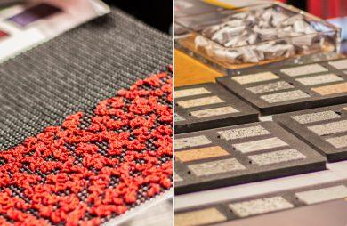 zestawienie próbników materiałowych i kamiennych