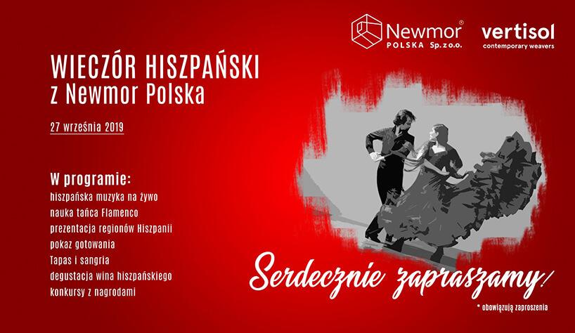 czerwone zaproszenie na Wieczory Architektów zNewmor Polska