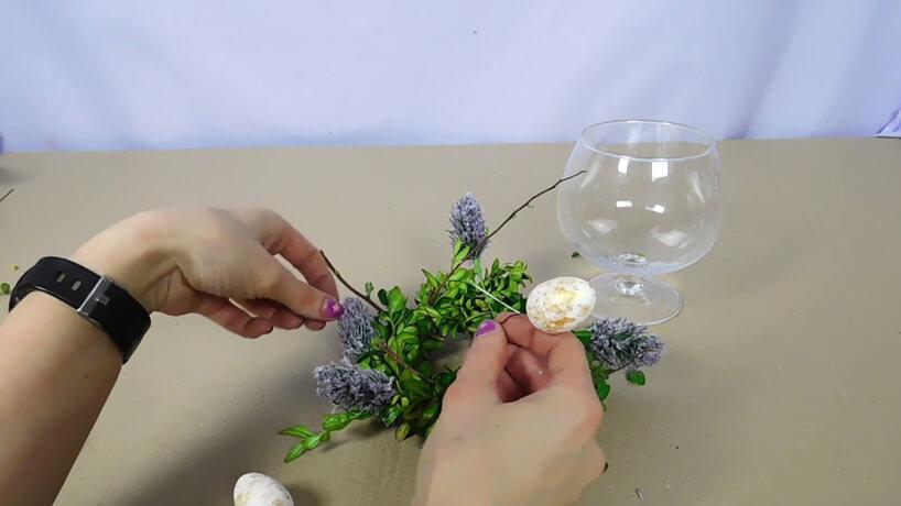 mocowanie jajek styropianowych do stroika