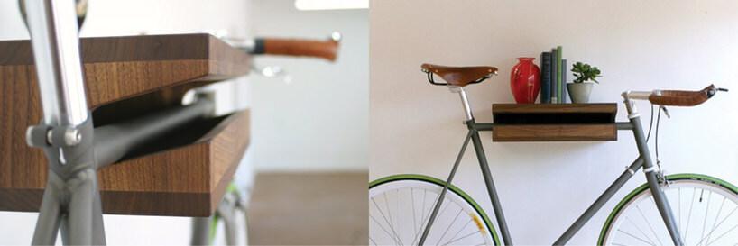 zielony rower na wieszaku