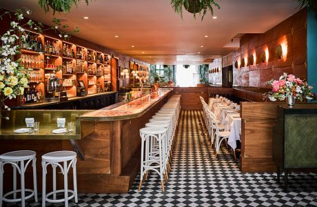 wnętrze restauracji glamour