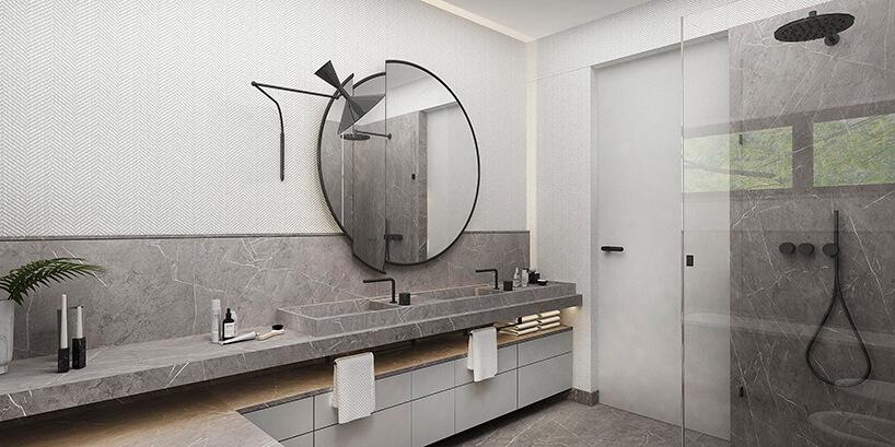 styl minimalistyczny wszarej łazience ilustro do łazienki