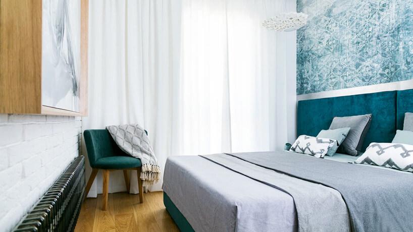 steampunk meble wszaro-zielonej sypialni