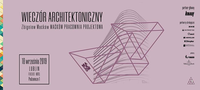 różowy plakat spotkania ze Zbigniewem Maćkówem