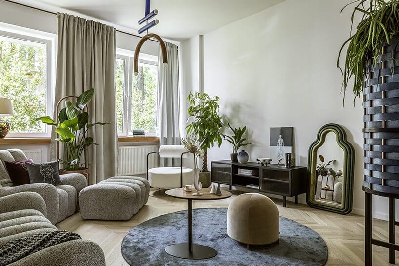 salon wretro stylizacji wnętrza wpolskim stylu