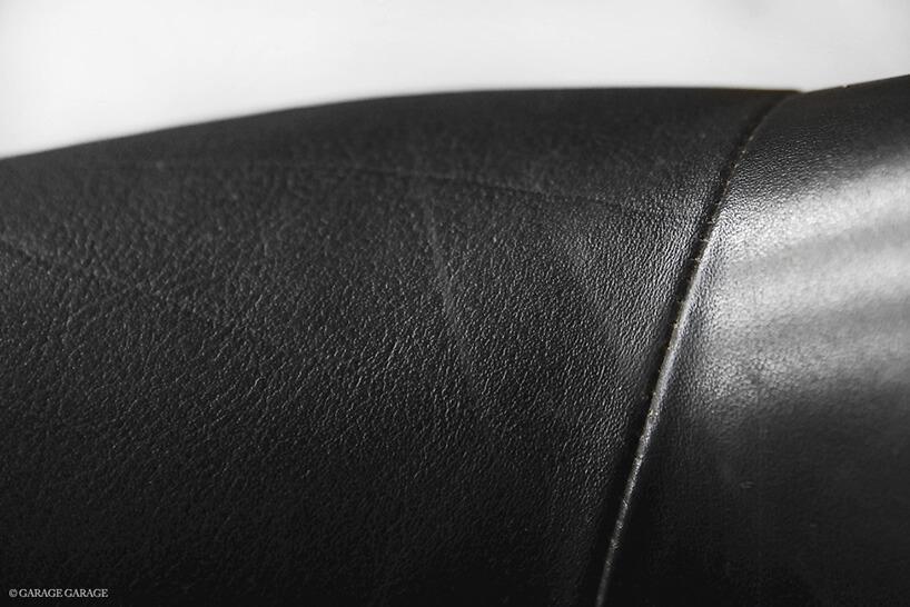 szew oparcia wczarnym fotelu