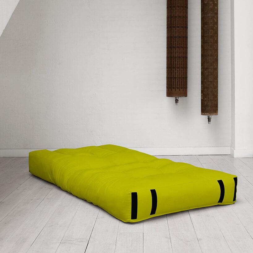 zielony materac